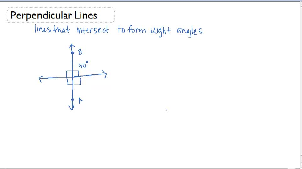 Perpendicular Lines - Overview
