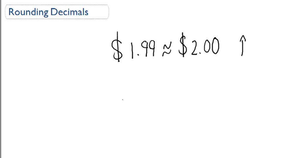 Rounding Decimals - Overview