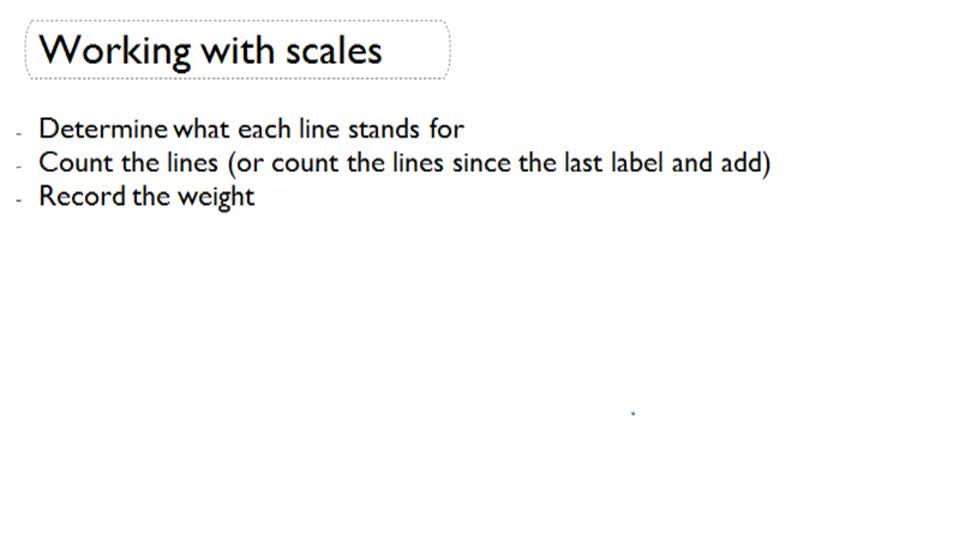 Working with Scales - Overview