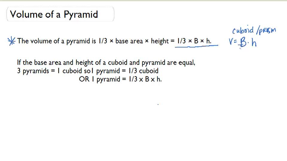 Volume of a Pyramid - Overview
