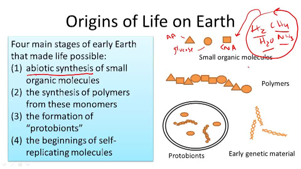 Origins of Life on Earth - Overview