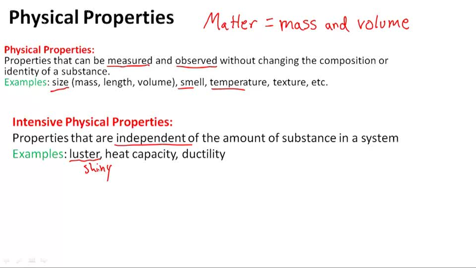 Physical Properties - Overview