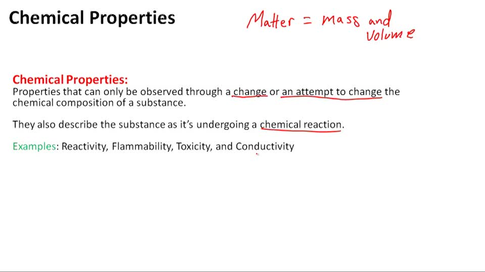 Chemical Properties - Overview