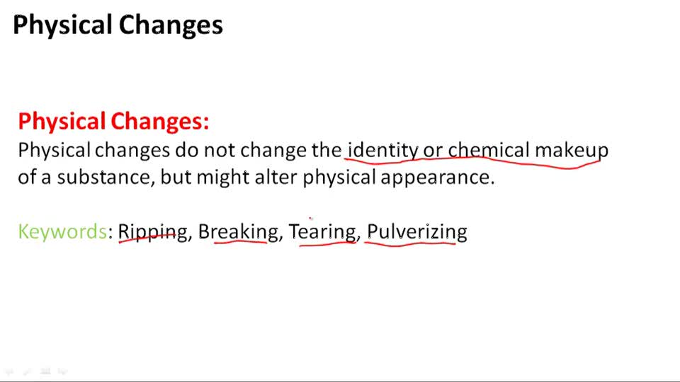 Physical Changes - Overview
