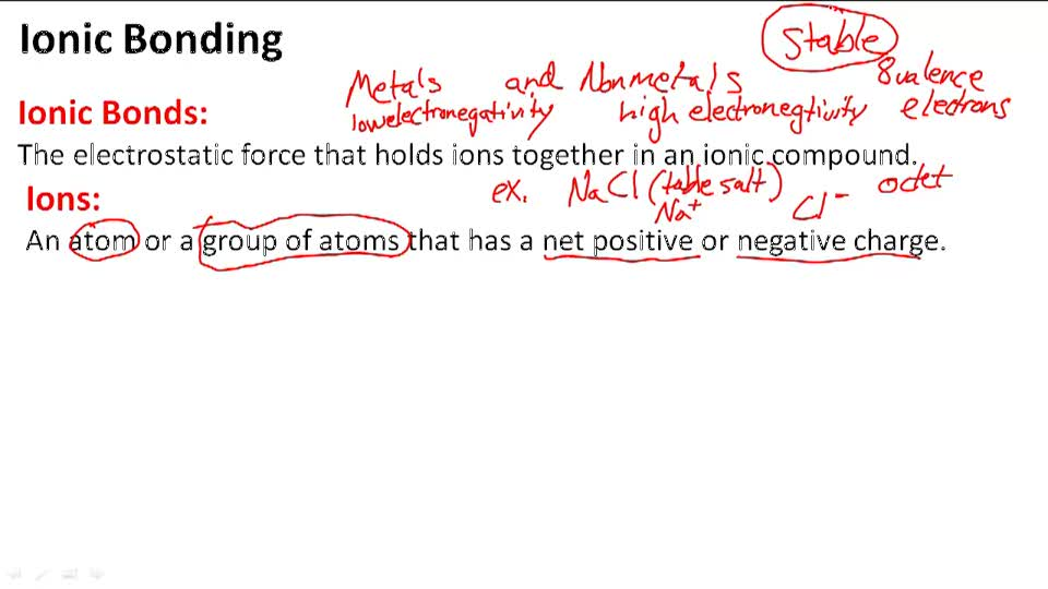 Ionic Bonding - Overview