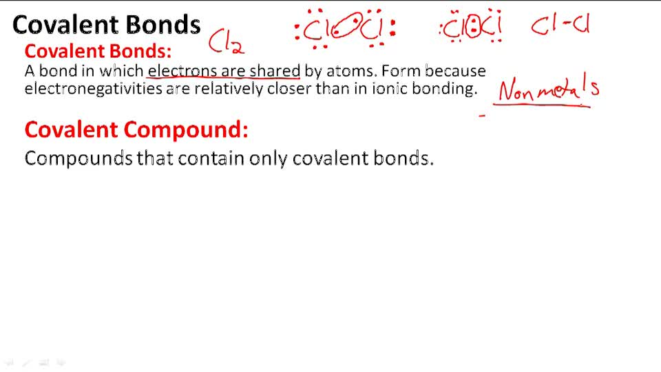 Covalent Bonds - Overview