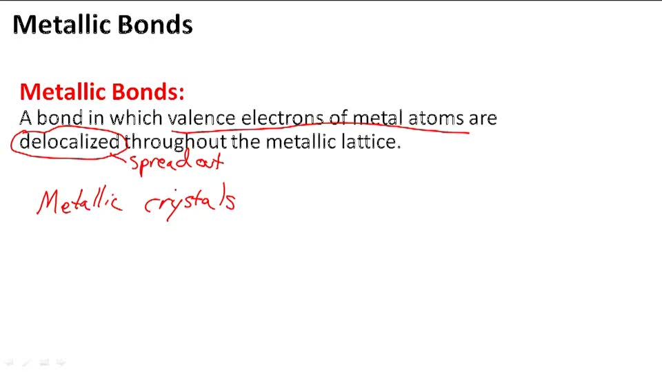 Metallic Bonds - Overview