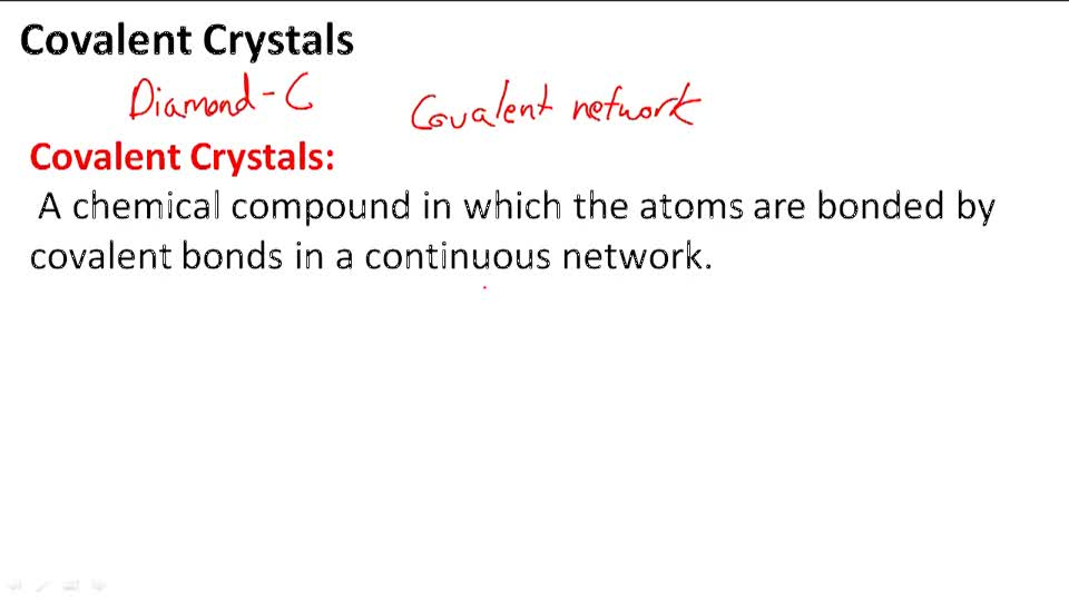 Covalent Crystals - Overview