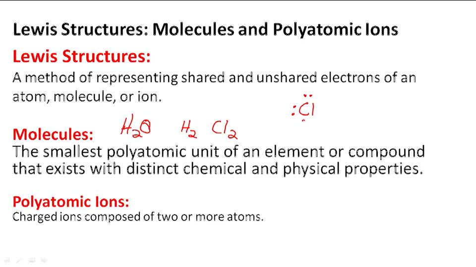 Molecules and Polyatomic Ions - Overview