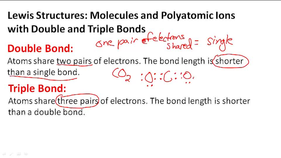 Molecules and Polyatomic Ions with Double and Triple Bonds (Sigma and Pi Bonds) - Overview
