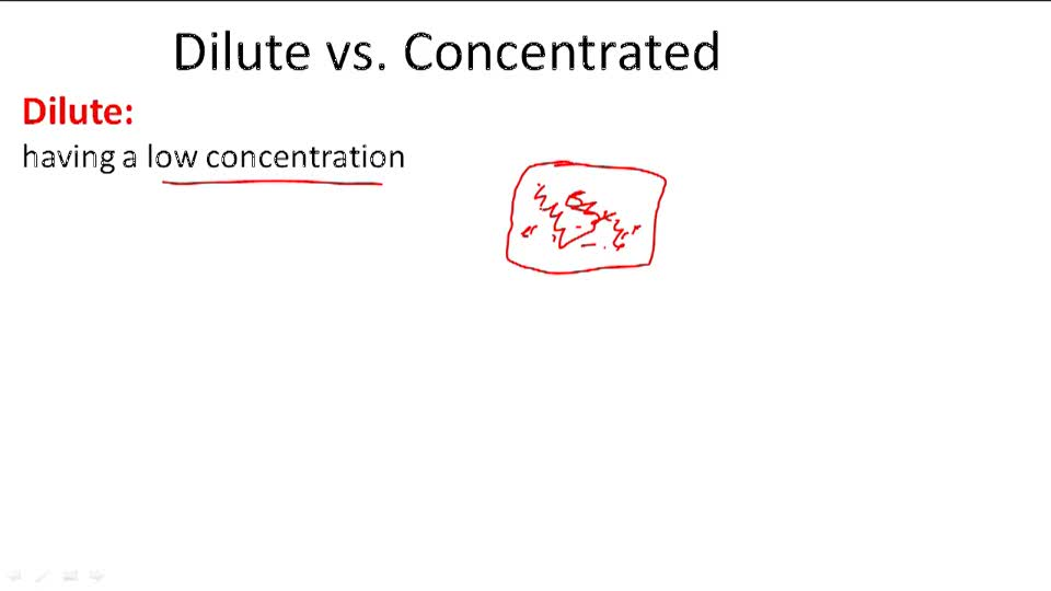 Dilute vs. Concentrated - Overview