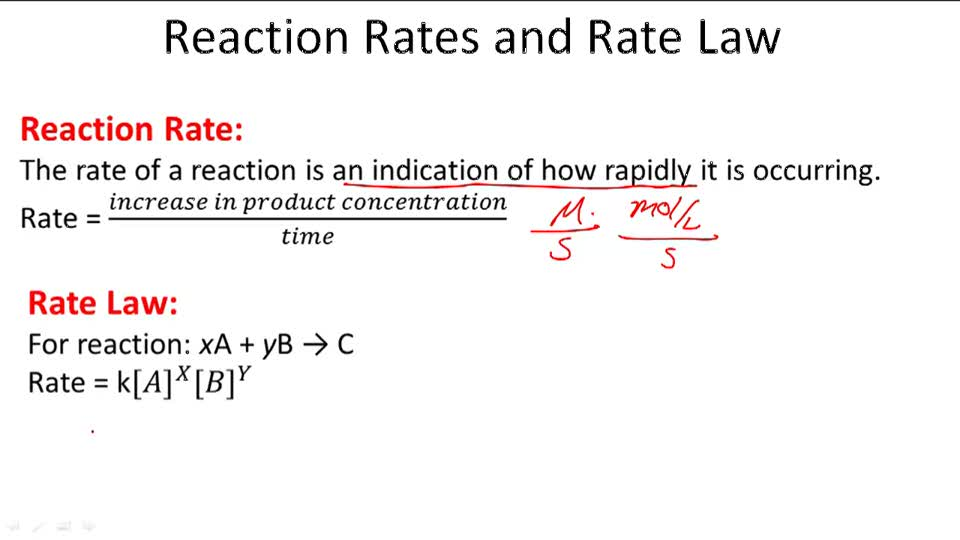 Reaction Rates and Rate Law - Overview