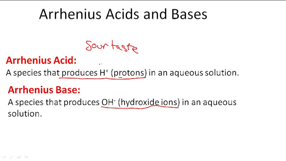 Arrhenius Acids and Bases - Overview