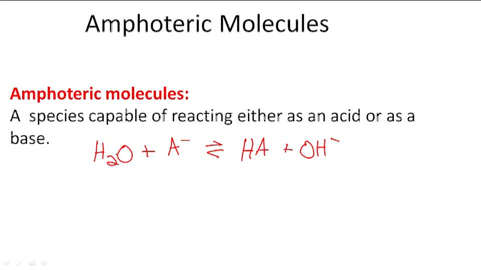 Amphoteric Molecules - Overview
