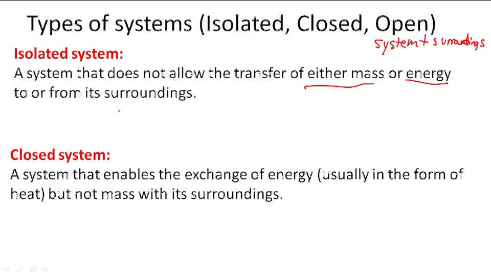Types of systems (Isolated, Closed, Open) - Overview