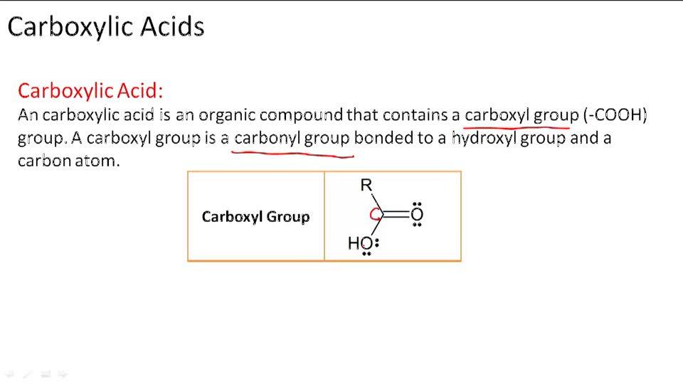 Carboxylic Acids - Overview