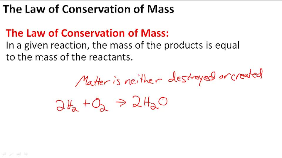 The Law of Conservation of Mass - Overview