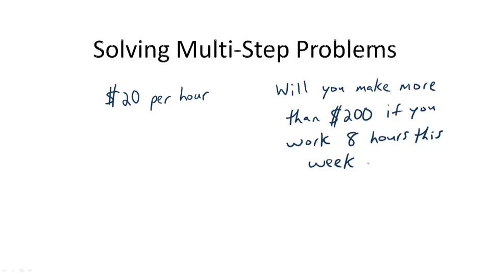 Solving Multi-Step Problems - Overview