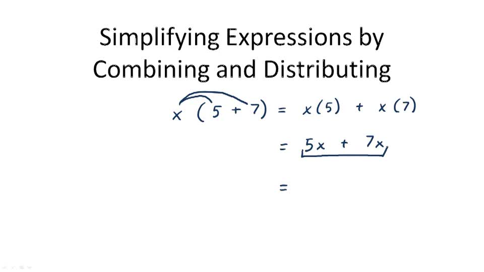 Simplifying Expressions - Overview