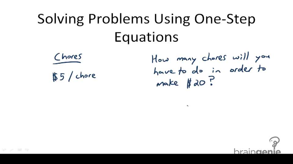 Solving Problems Using One-Step Equations - Overview