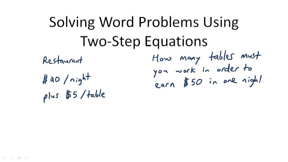 Multi step equations example problems cbra – Math Worksheets Two Step Equations