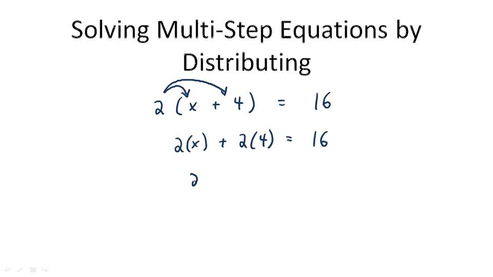 Distributive Property for Multi-Step Equations | CK-12 Foundation