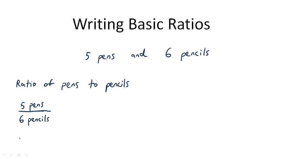Writing Basic Ratios - Overview