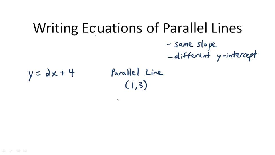 Writing Equations of Parallel Lines - Overview