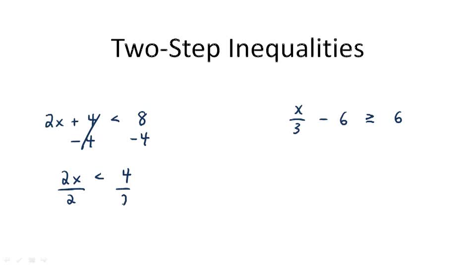Two-Step Inequalities - Overview