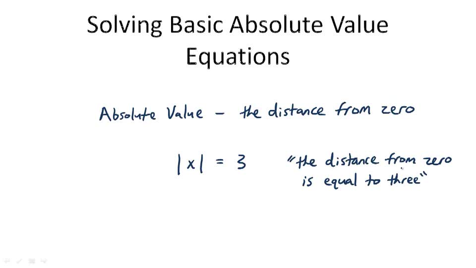 Basic Absolute Value Equations - Overview