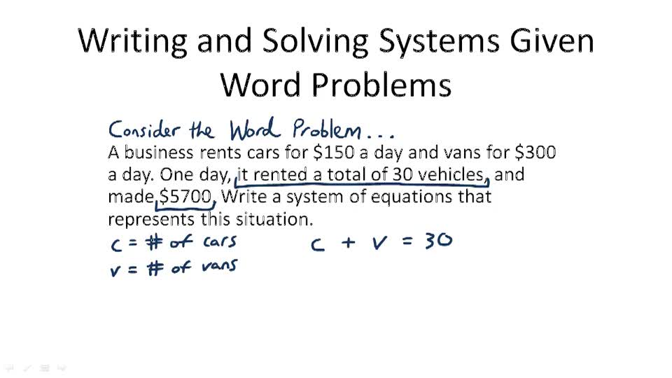 Applications of Linear Systems Video Algebra – System of Inequalities Word Problems Worksheet