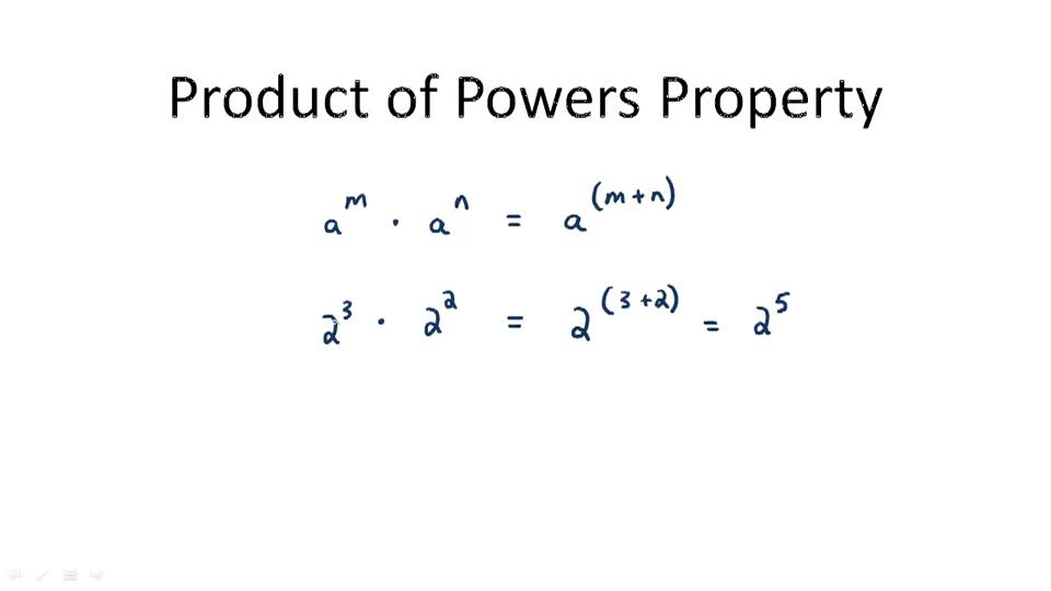 Product of Powers Property - Overview