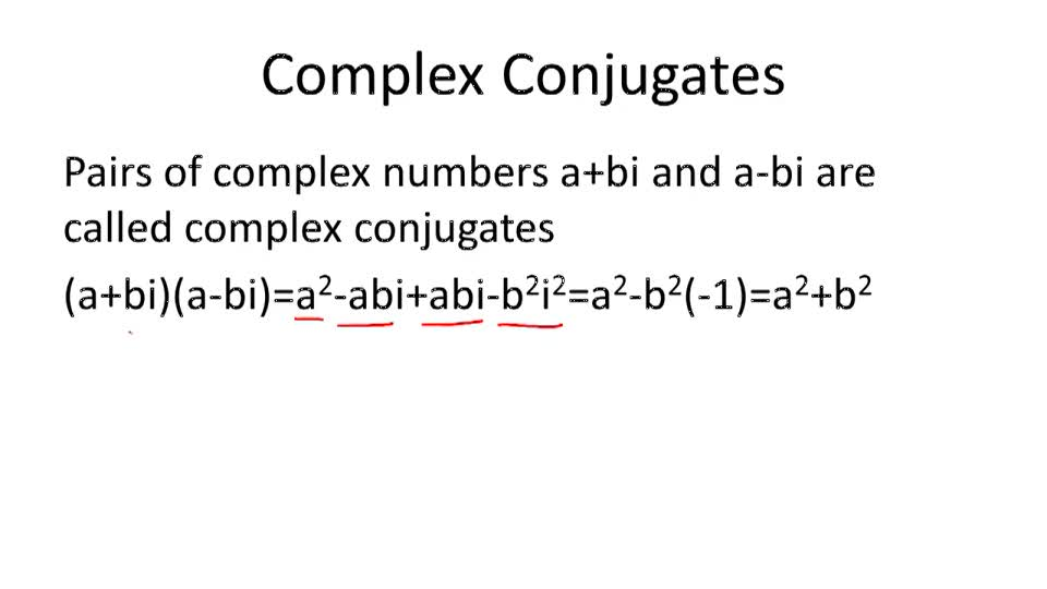 Imaginary Solutions and Conjugate Pairs - Overview