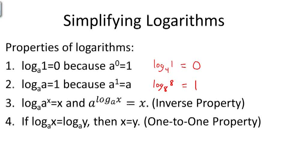 Simplifying Logarithms - Overview