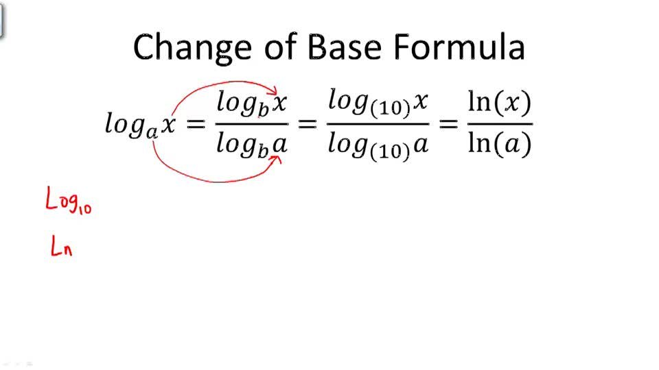 Change of Base Formula - Overview