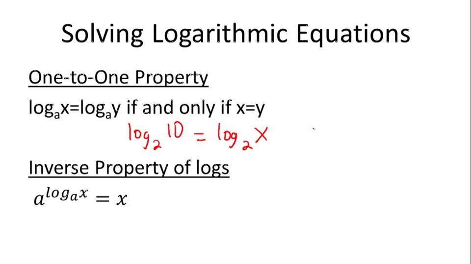 Solving Logarithmic Equations Video Calculus – Logarithmic Equations Worksheet