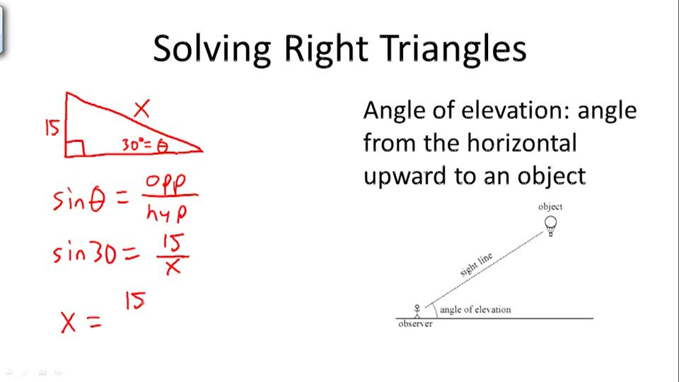 Solving Right Triangles - Overview