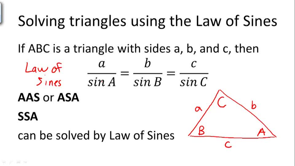 Solving triangles using the Law of Sines - Overview