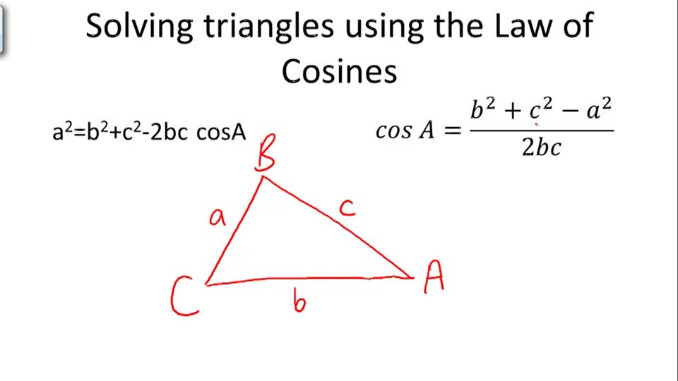 Solving triangles using the Law of Cosines - Overview