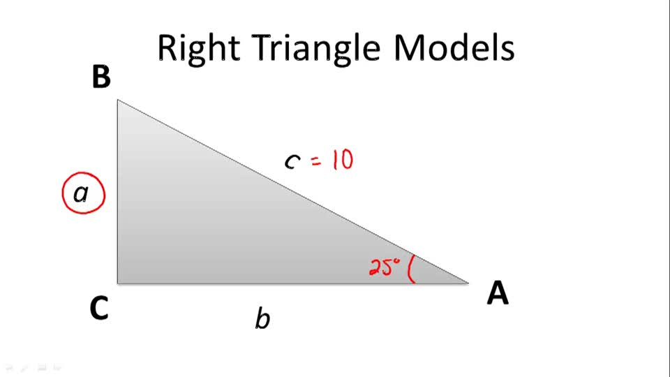Right Triangle Models - Overview