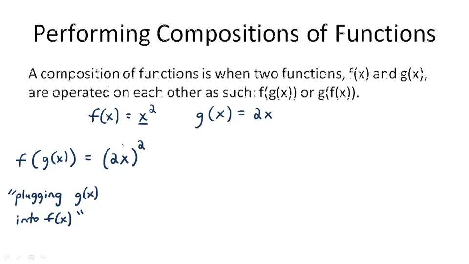 Performing Compositions of Functions - Overview
