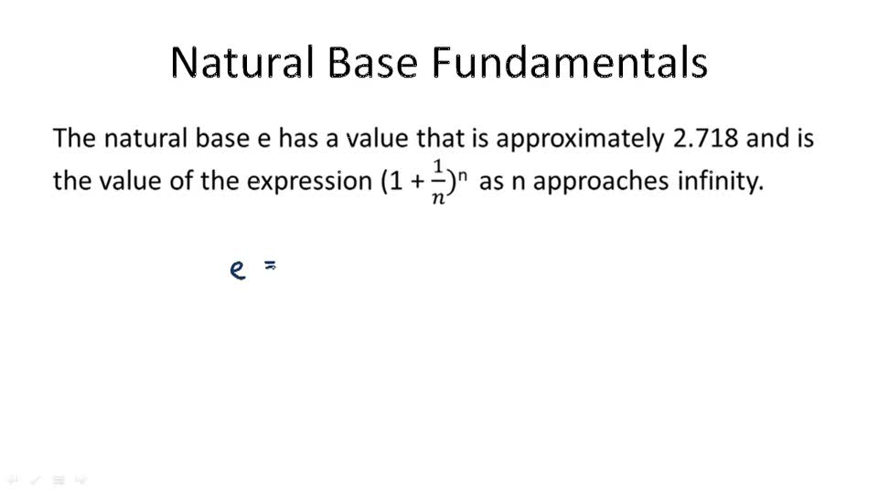 Natural Base Fundamentals - Overview