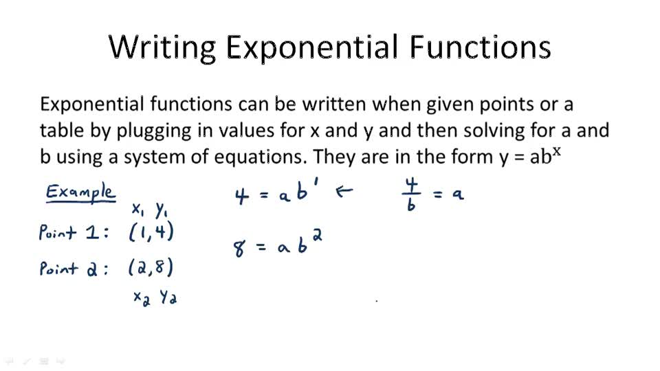 Writing Exponential Functions - Overview