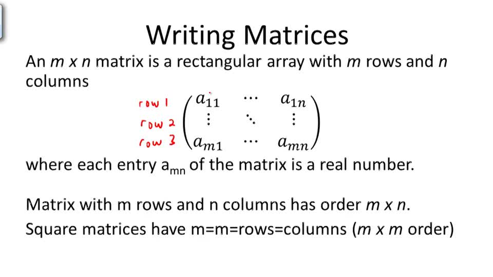 Writing Matrices and Solving Systems - Overview