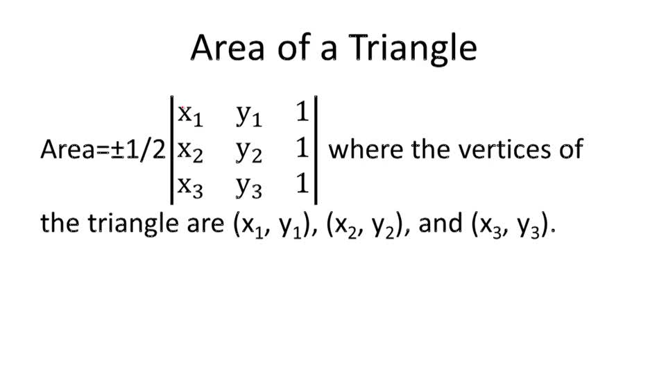 Area of a Triangle - Overview