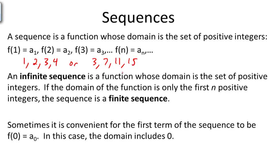Sequences - Overview