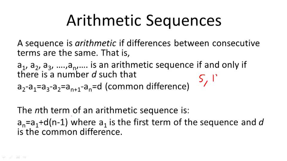 Arithmetic Sequences - Overview