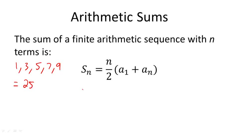 Arithmetic Sums - Overview