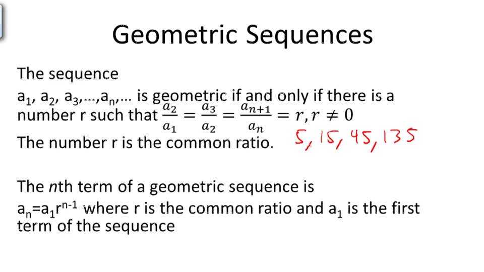 Geometric Sequences - Overview