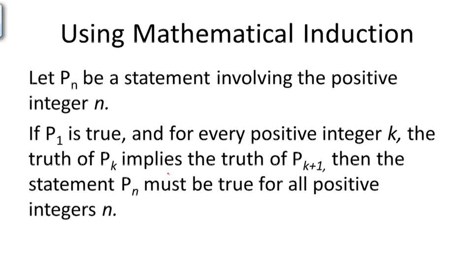 Using Mathematical Induction - Overview